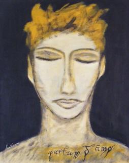 Parfum d'âme / LauWagon . Papier sous cadre . 40 x 50 cm . Acrylique