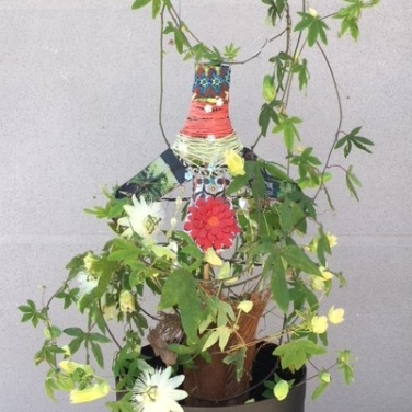 Couture / LauWagon . Sculpture Végétale . Passiflore . 500€