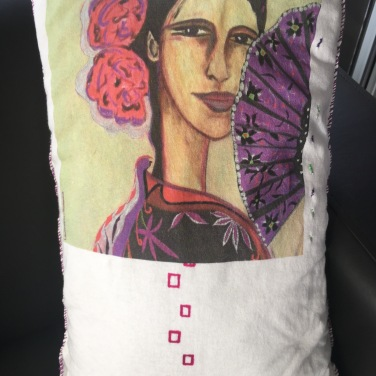 Flamenca / LauWagon . 30 x 50 cm . broderies